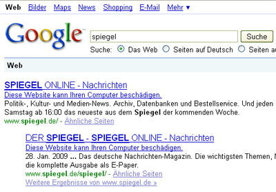 google_warnung